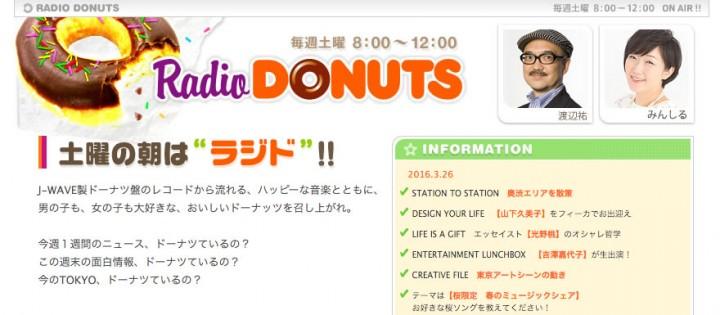 【3月26日放送予定】J-WAVE「ラジオドーナツ」に出演します!