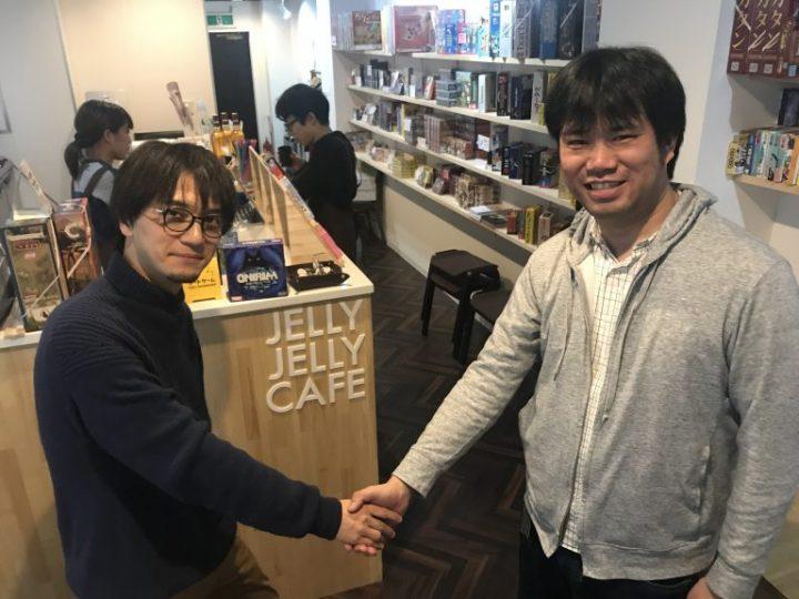 JELLY JELLY CAFEオーナー白坂(左)とヌーラボ代表橋本さん