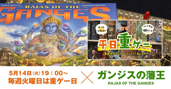 ボードゲーム ガンジスの藩王 RAJAS OF THE GANGES